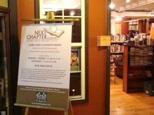 Next Chapter Bookstore on the square in Downtown Gainesville