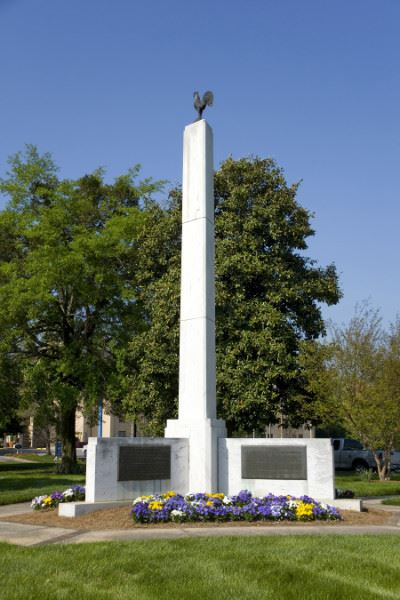 25 Foot Marble Obelisk Monument at Poultry Park