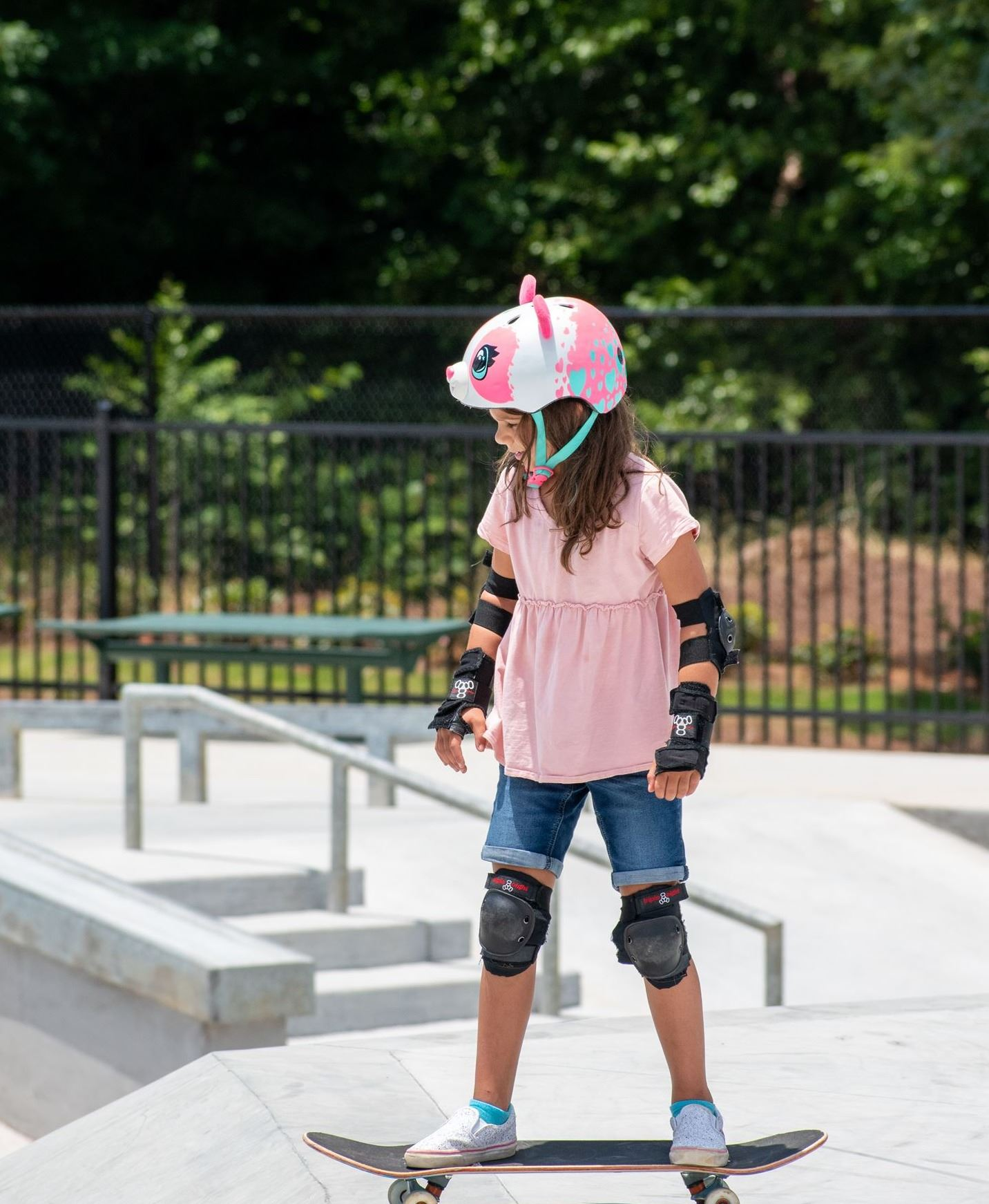 Skate Park Young Girl