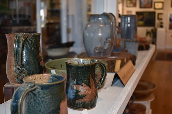 Gallery on the Square featuring pottery by Pam Kohler Camp