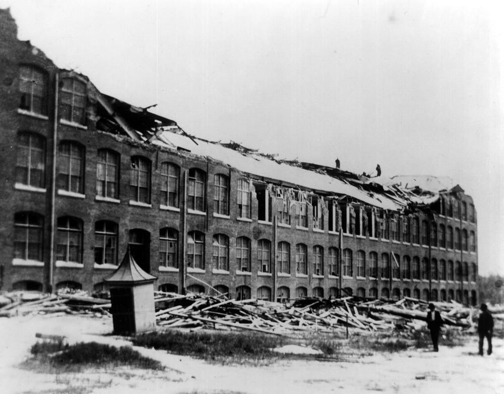 The Gainesville Cotton Mill after the tornado of 1903