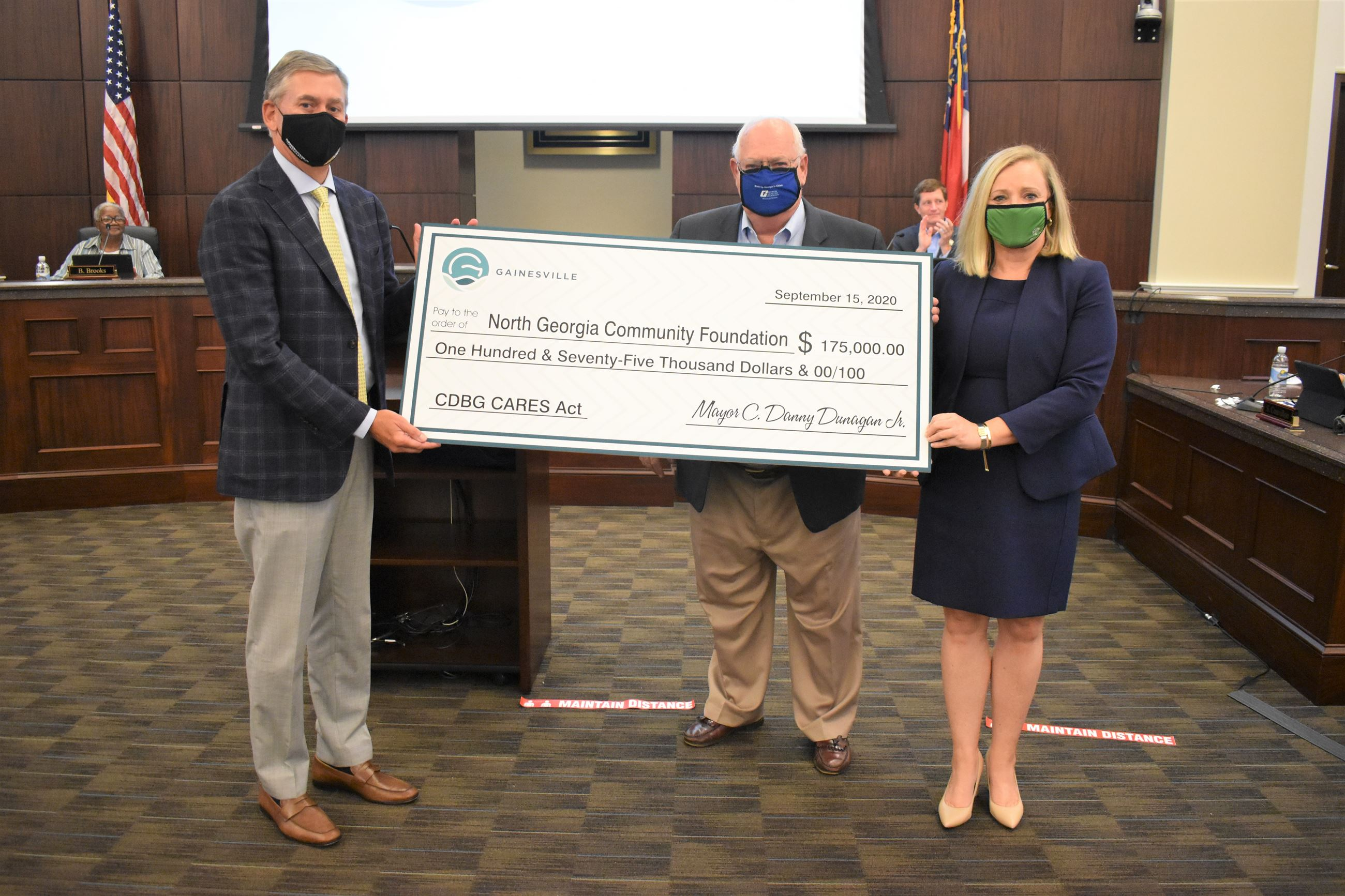 City of Gainesville + NGCF check presentation