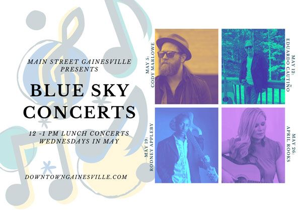 Event graphic for the Blue Sky Concert series.