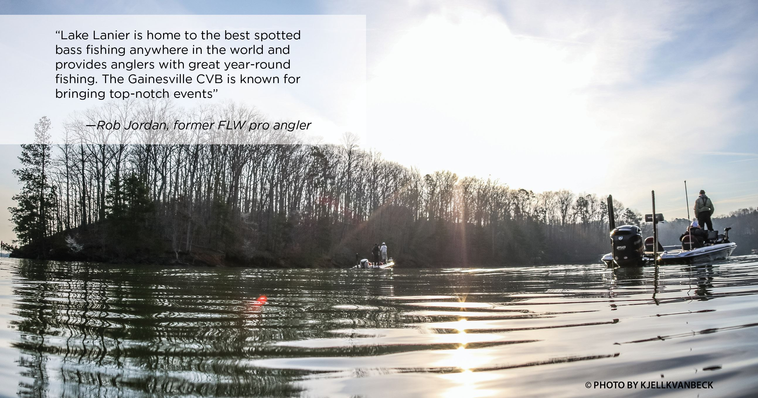 Tournament Fishing and quote from Rob Jordan