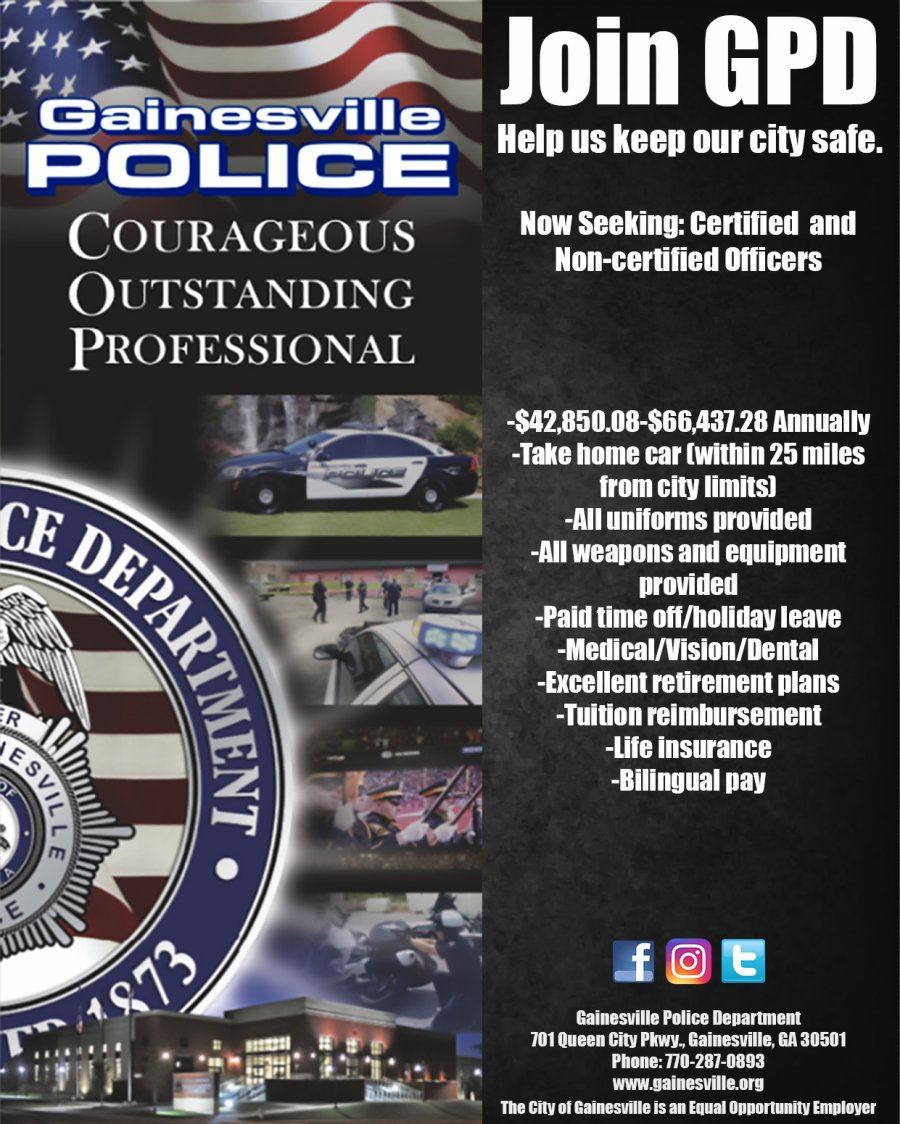 Joing Gainesville Police Department Flyer